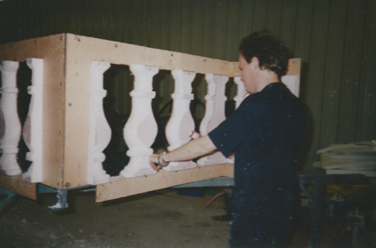 Carving balustrade